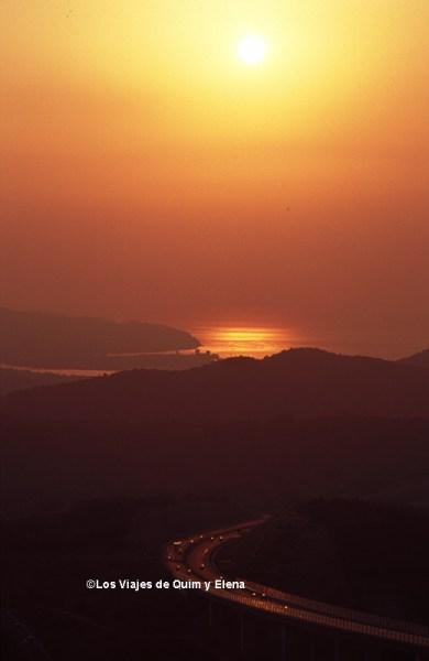 Puesta de sol en Eslovenia