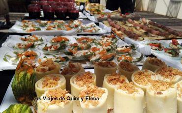 Momento de comer en el II Aniversario de Barcelona Travel Bloggers