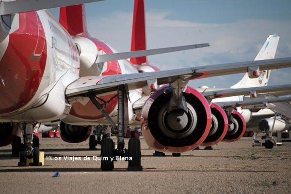 Aviones en el Aeropuerto de Teruel