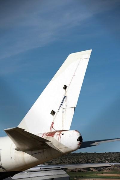 Parte trasera de un avión