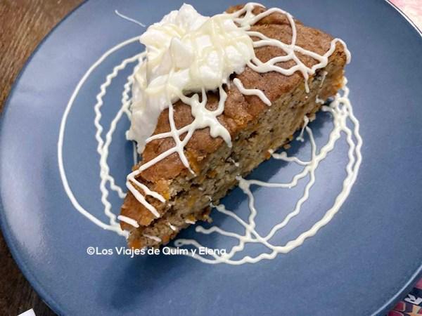 Pastel hecho en el Restaurante Xiloka