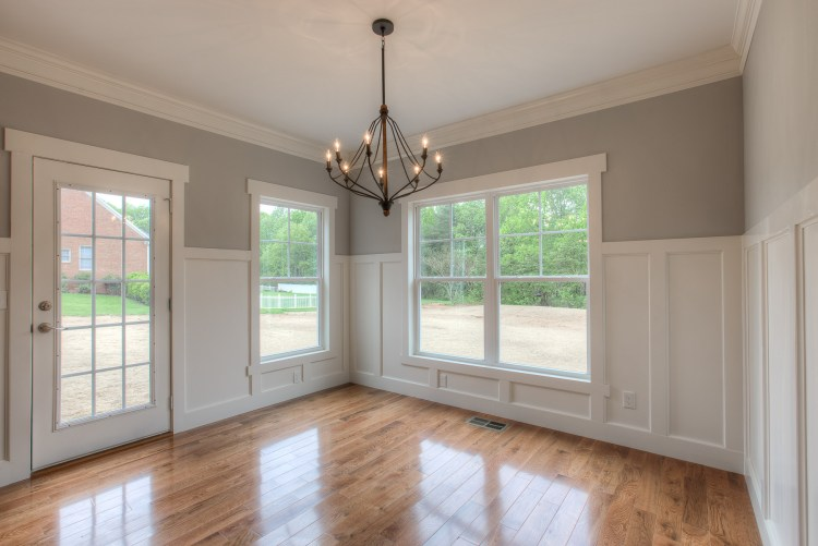 Dining room with custom paneling