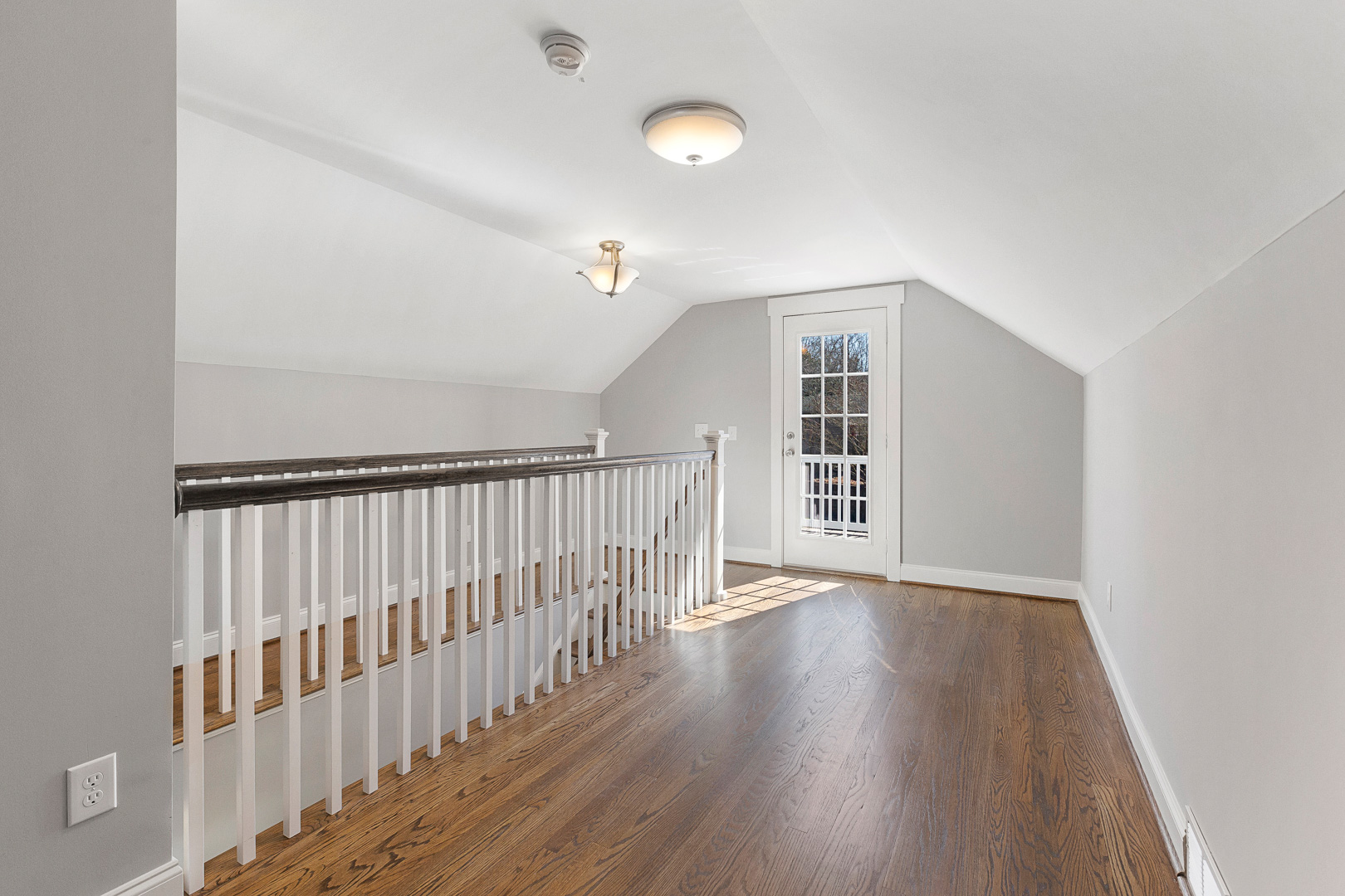 Second floor landing with access to balcony