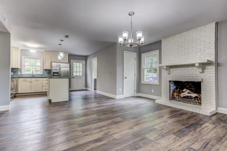 Open floor plan in Gales Avenue house in Ardmore, Winston-Salem