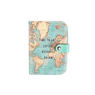 Etui na paszport Vintage Map
