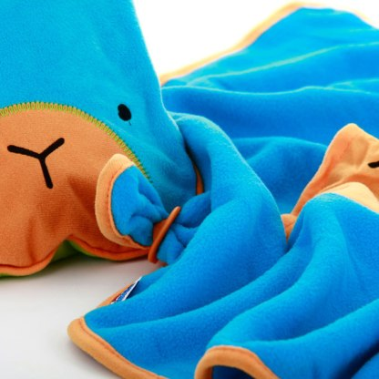 Kocyk i poduszka Trunki niebieski