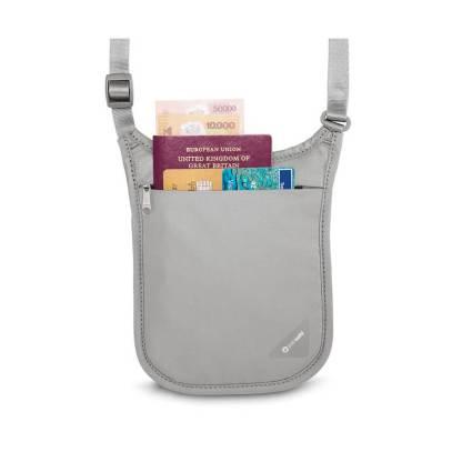Dyskretny antykradzieżowy portfel Pacsafe Coversafe V75 na szyję czarny