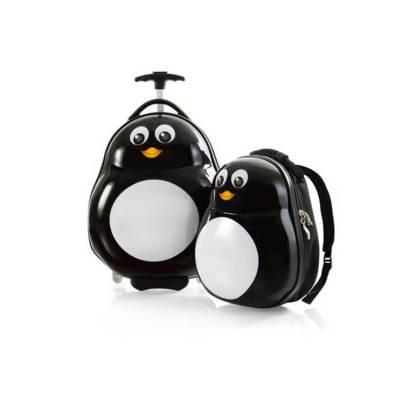 Zestaw: ultra lekka walizka i plecak Heys – Pingwin
