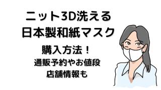 日本製マスク和紙ニット3D