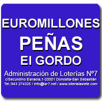 Combinaciones Peñas Euromillones 25/10/2019 y El Gordo de la Primitiva 27/10/2019 | Administración de Loterías Nº7 San Sebastián/Donostia