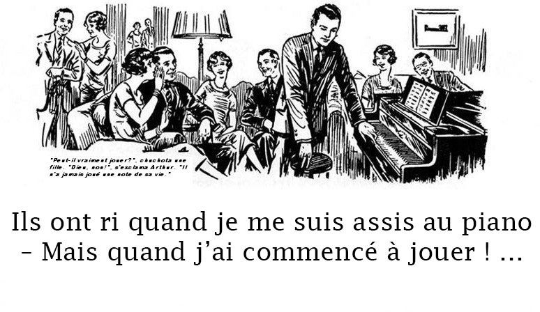 Copywriting français : When I sat at the piano