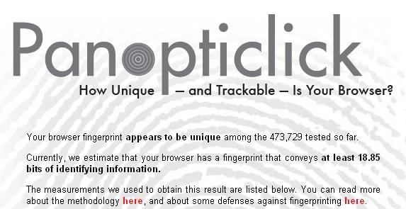 Euer Browser hinterlässt einen digitalen Fingerabdruck