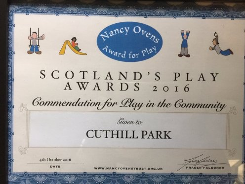 Prestonpans Park Commended at Scottish Play Awards