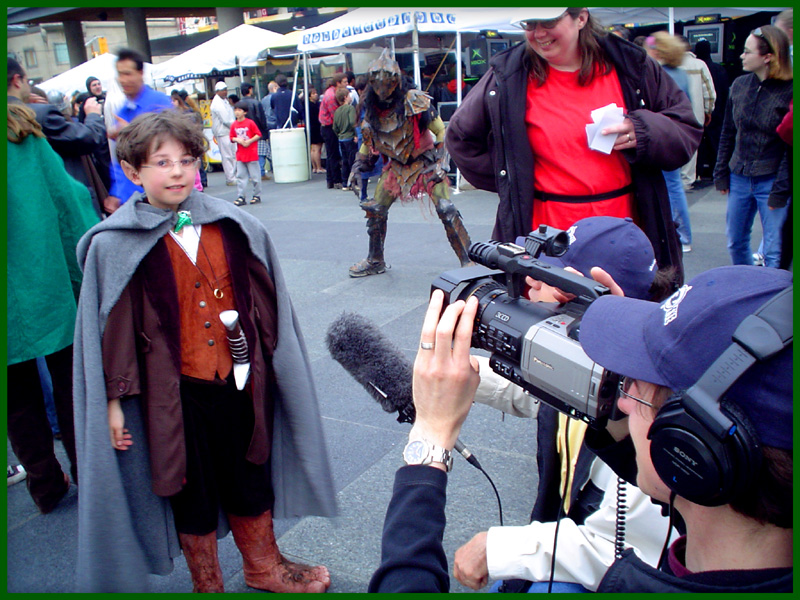 Interview with Frodo Baggins   (Notice the Orc in the background.)