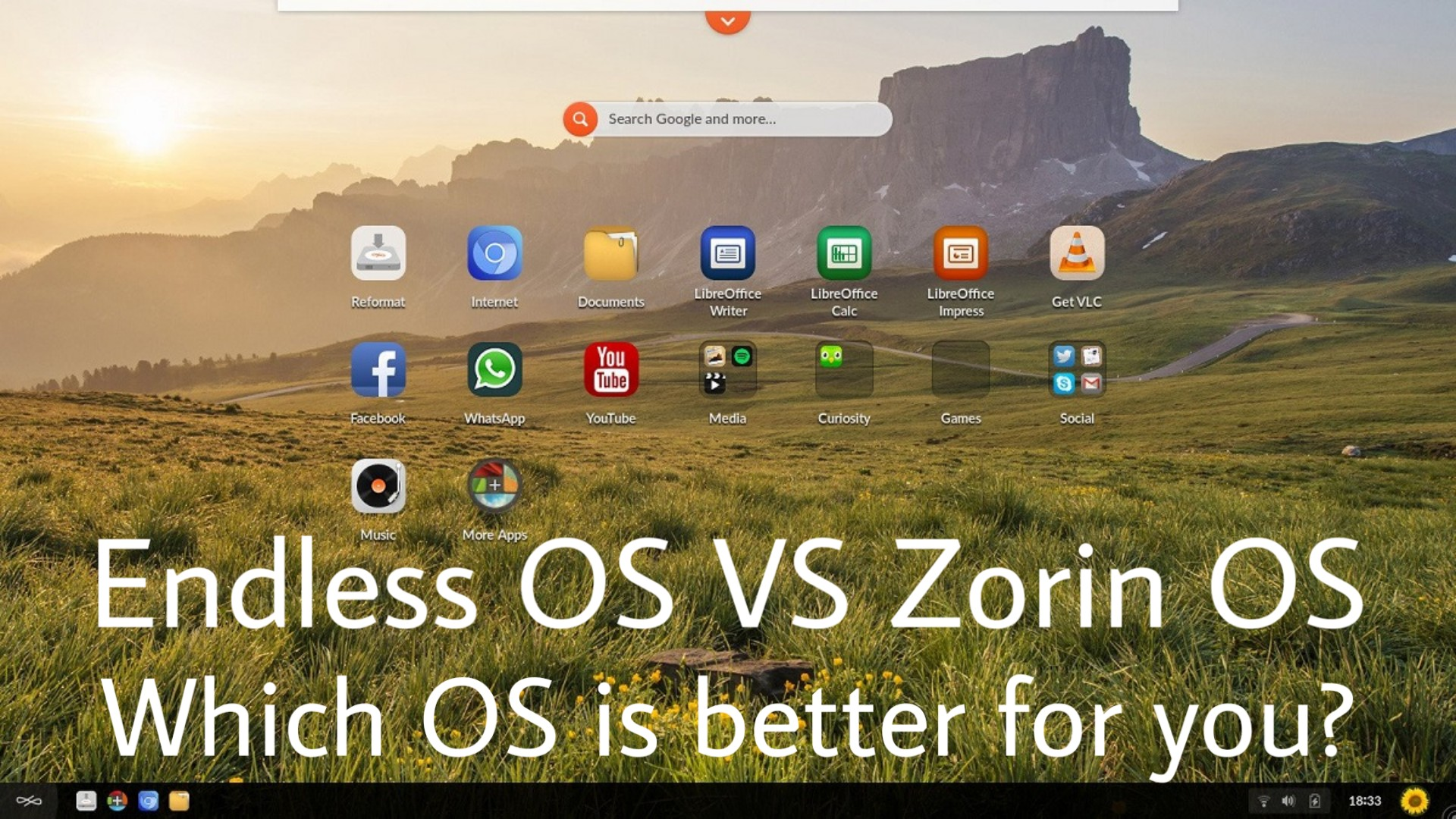Endless OS vs Zorin OS