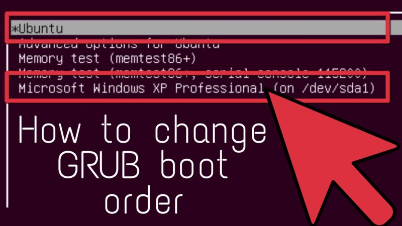 How to change GRUB boot order