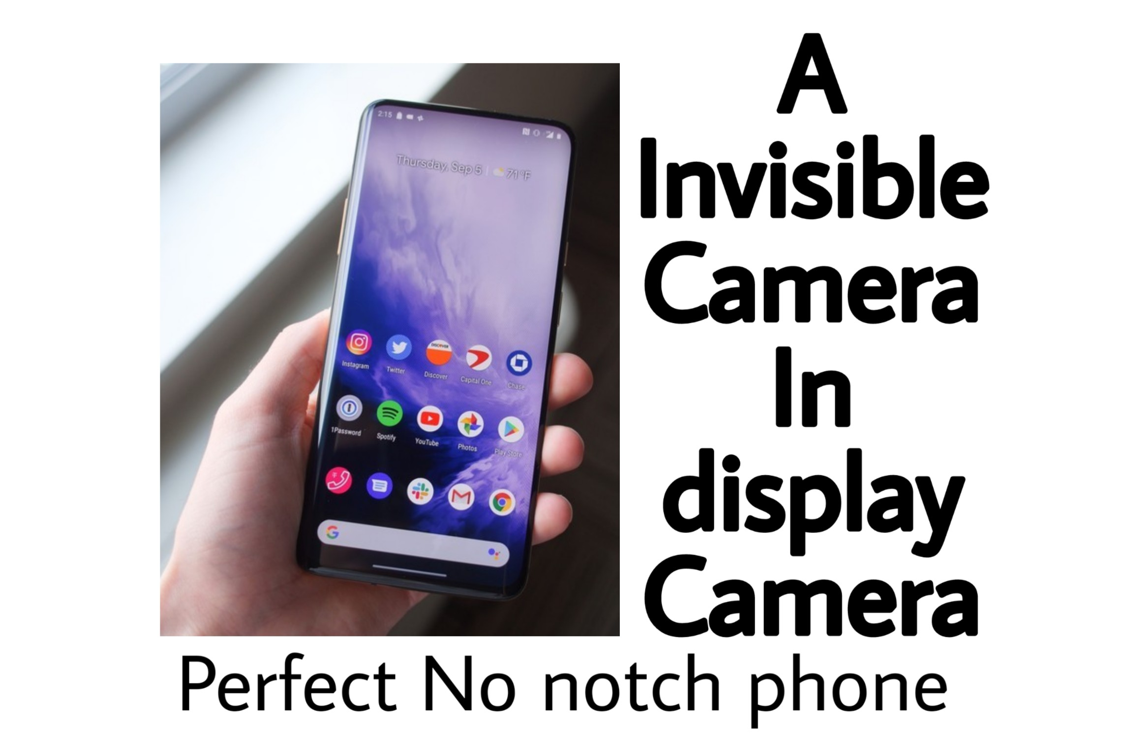 In display Camera- Perfect No notch Phone