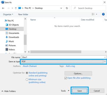 Convert Microsoft Word file into PDF file