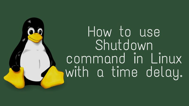 shutdown command in Linux
