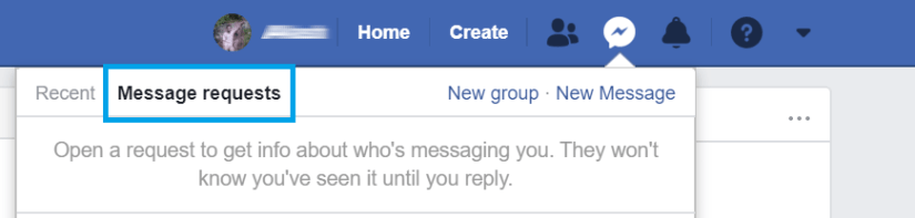 how to view message requests on messenger on desktop site