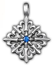 38 Крест с лилиями 0135