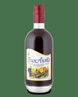 ВинАнто вино красное полусладкое безалкогольное стекло 0500мл ЖСВ