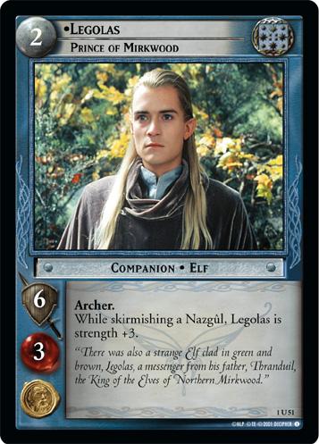 LotR TCG Wiki Legolas Prince Of Mirkwood 1U51