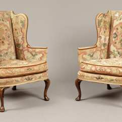 Chair Design Antique Baker Furniture Chairs Iconic Part 2 7817 Pair Tapestry Wing L