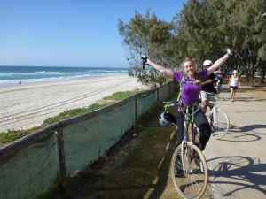A perfect day cycling along the coast to breakfast