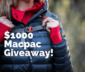 $1000 Macpac Giveaway!