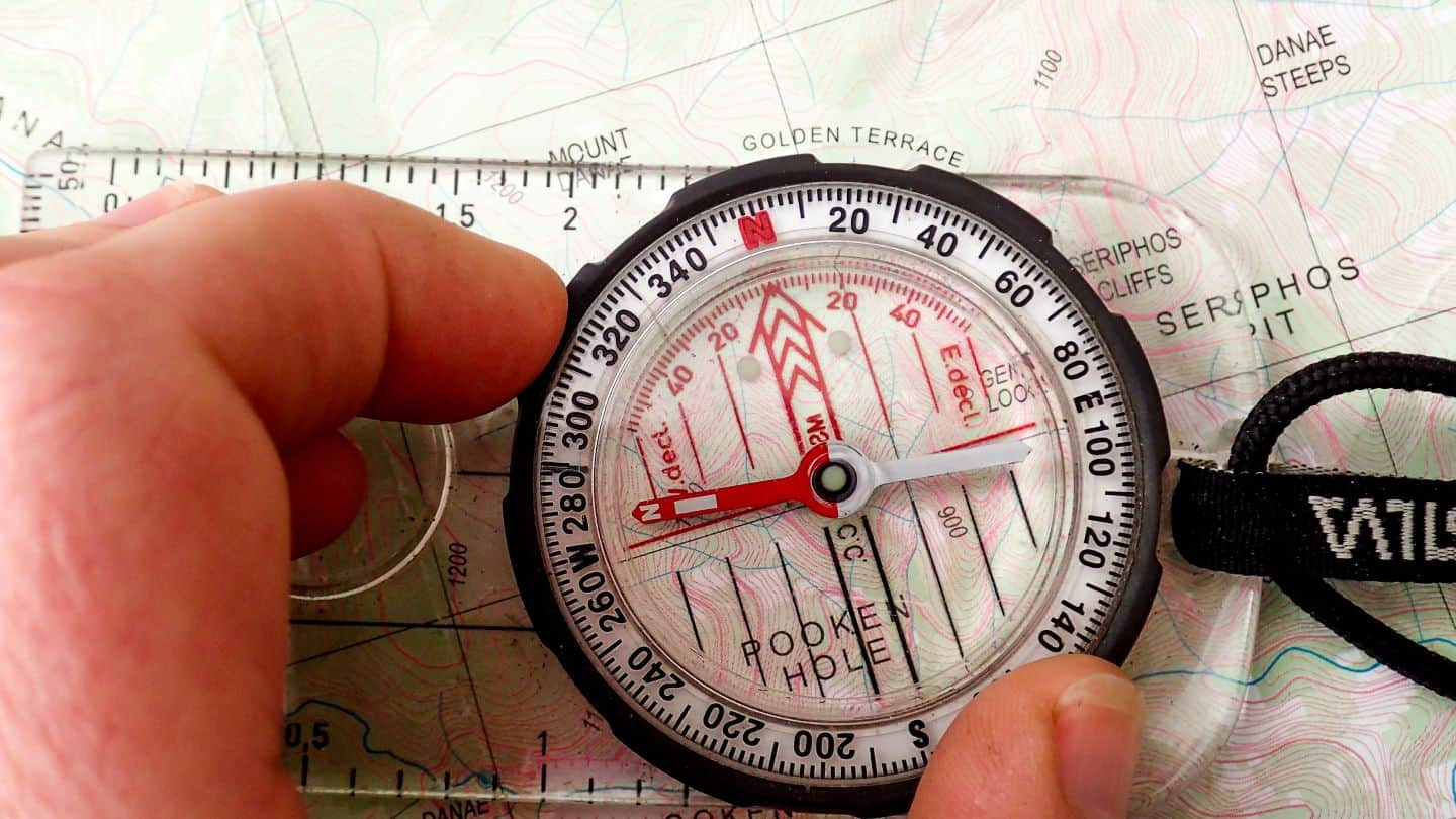 Arrow Pointing Down >> How to Navigate with a Map & Compass - Lotsafreshair