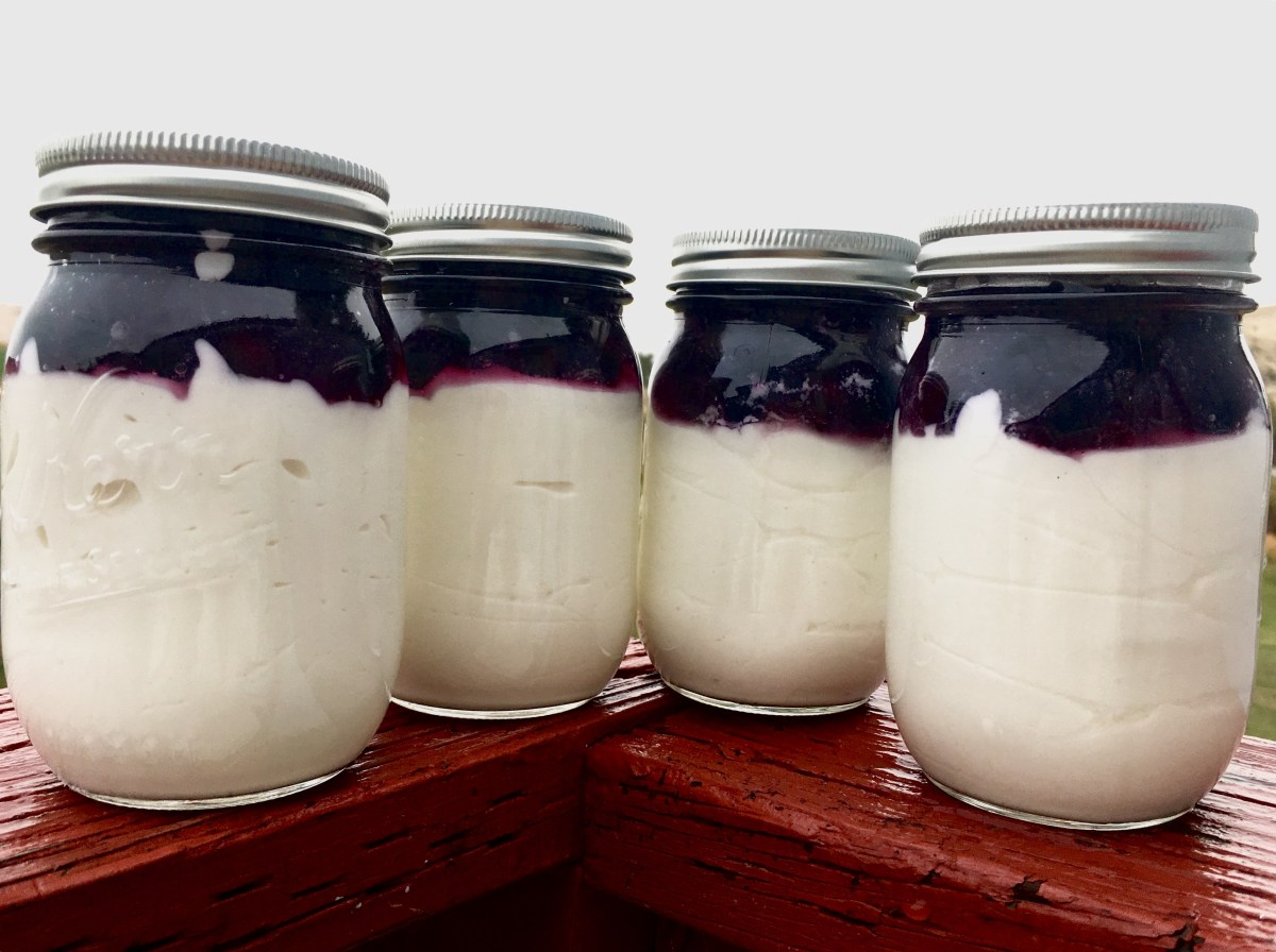 No Bake Cheesecake in a Jar