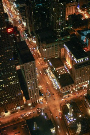 Chicago streets as seen from atop the Hancock Tower in Chicago | LotsaSmiles Photography
