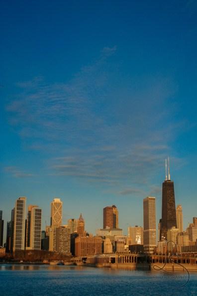 Chicago skyline at dawn | LotsaSmiles Photography