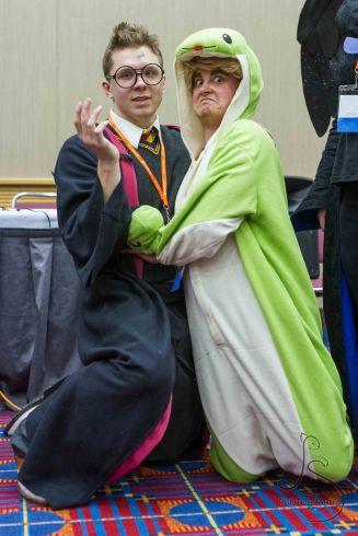 Yep. Draco's wearing a snake kigu