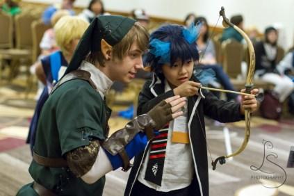 Such a cute aspiring archer!