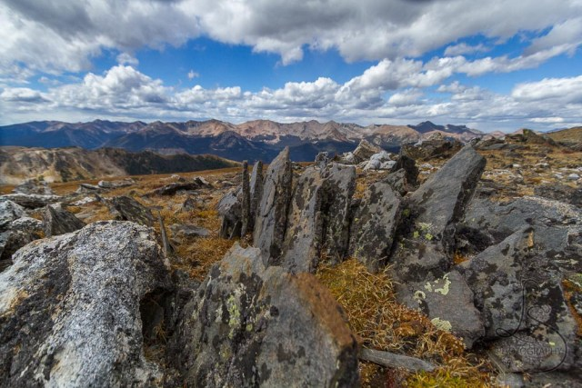 Rocks atop a tundra hike in Rocky Mountain National Park, Colorado | LotsaSmiles Photography