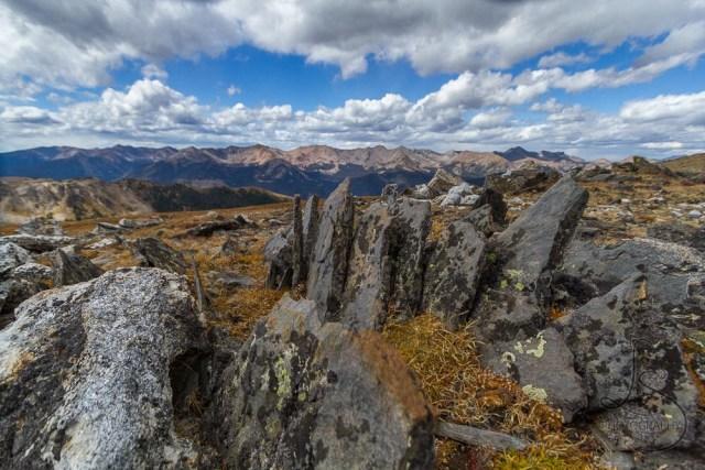 Rocks atop a tundra hike in Rocky Mountain National Park, Colorado | LotsaSmiles Photography