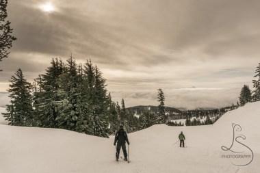 Skiing at Mt. Hood Meadows
