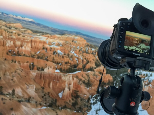 Bryce Canyon, viewed through the screen on the back of a camera | LotsaSmiles Photography