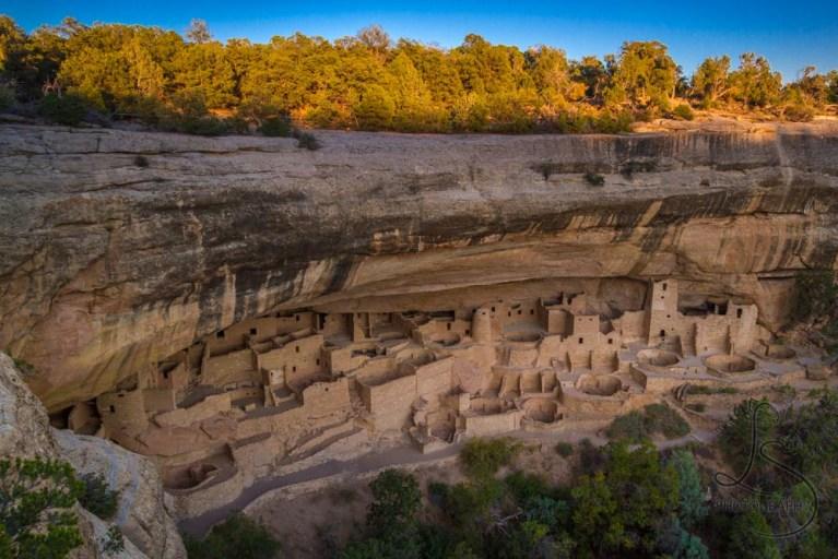 Mesa Verde's Cliff Palace at sunset   LotsaSmiles Photography