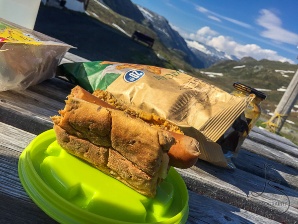 Hot dog and chips at the bottom of the trail | LotsaSmiles Photography