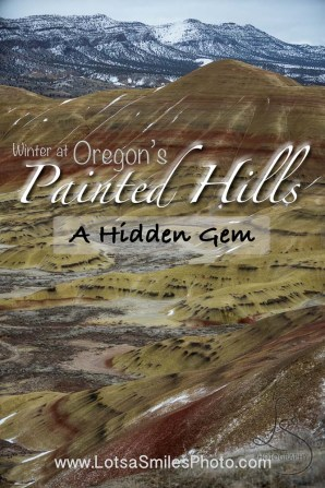 Winter at Oregon's Painted Hills: A Hidden Gem | LotsaSmiles Photography | Marvel at some of Oregon's natural wonders, hidden away in plain sight! Click to read all about our winter discovery! | #centraloregon #photoblog #paintedhills #bluebasin #wintertime #travel #photography