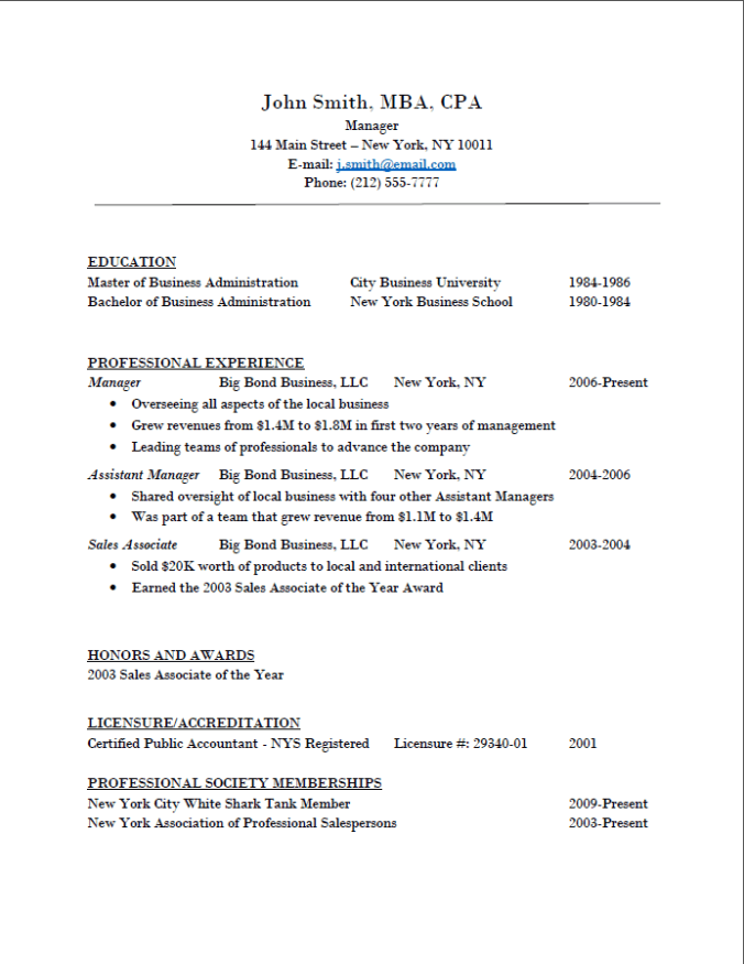 Pic - Sample Resume