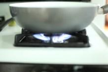 Flame under Pan