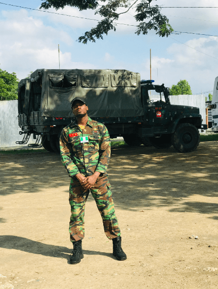 Dorathy, React As BBNaija Prince Shares Photo In Soldier Uniform, Says His Mother Won't Allow Him To Be A Soldier