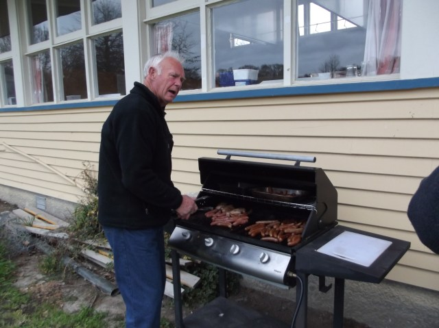 Our dear friend Pete helped with the cooking.