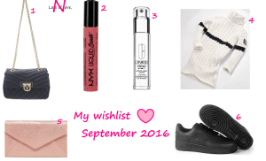 My Wishlist ♥ September 2016