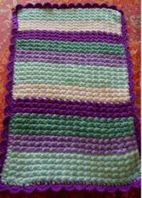 Quick And Easy Crochet Baby Afghan Pattern ~ Dancox for