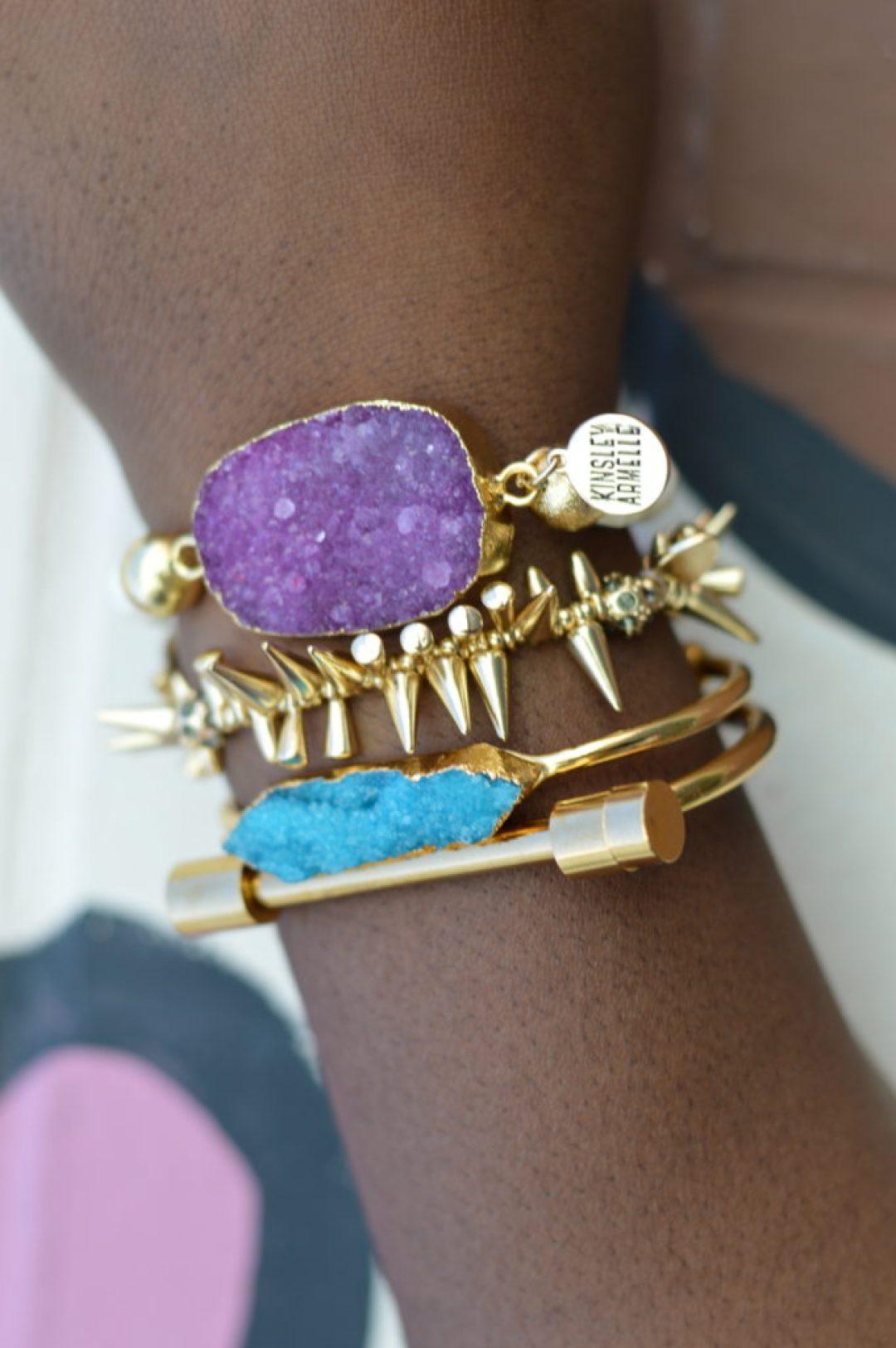 Druzy Bracelet-Bar Bracelet